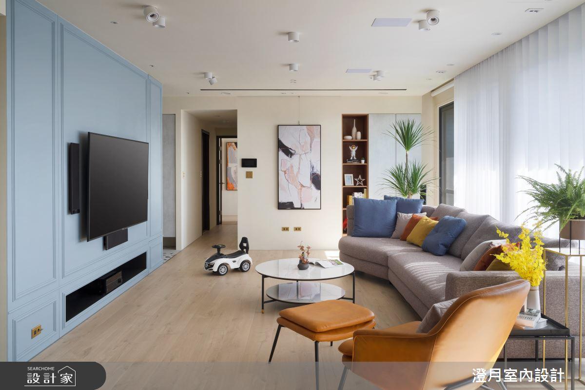 40坪新成屋(5年以下)_混搭風客廳案例圖片_澄月室內設計_澄月_08之1