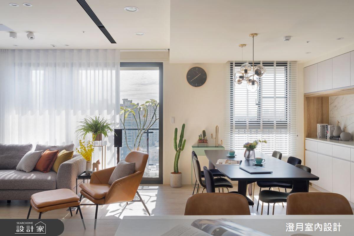 40坪新成屋(5年以下)_混搭風客廳餐廳案例圖片_澄月室內設計_澄月_08之4
