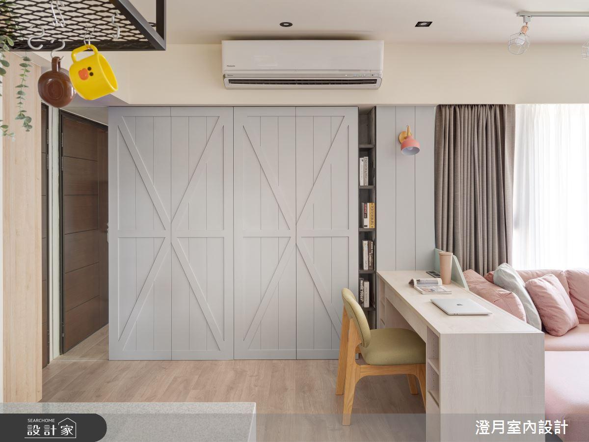 30坪新成屋(5年以下)_北歐風玄關客廳書房案例圖片_澄月室內設計_澄月_10之2