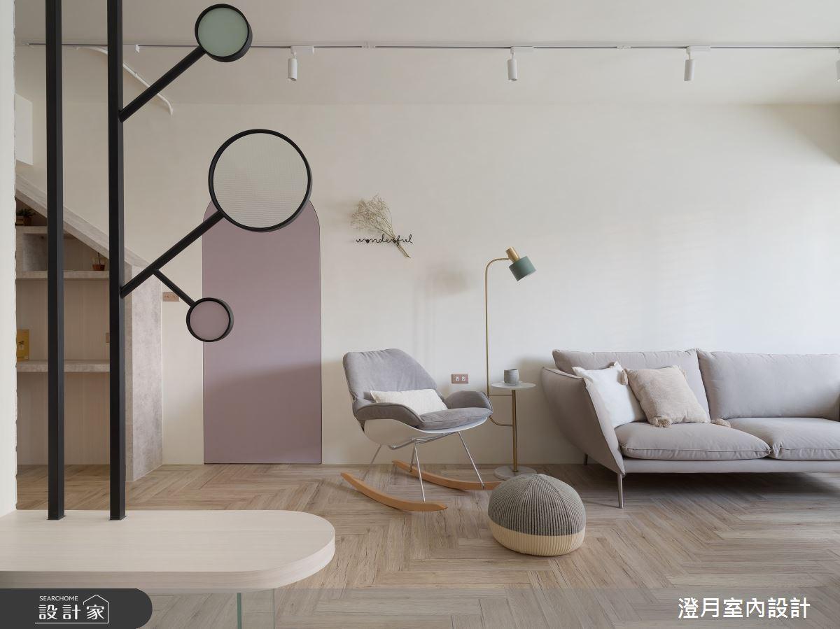35坪老屋(16~30年)_北歐風客廳案例圖片_澄月室內設計_澄月_13之4