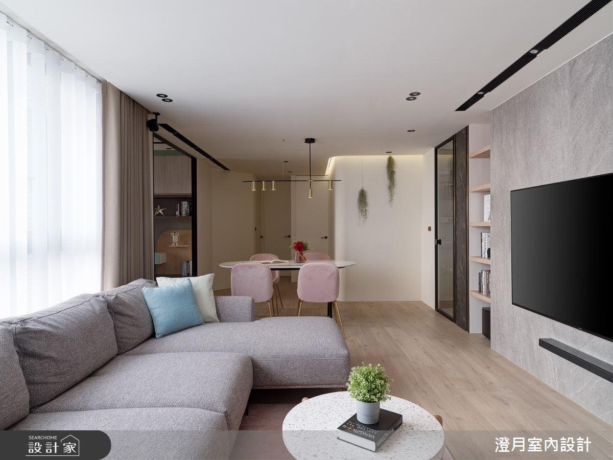 40坪新成屋(5年以下)_現代風案例圖片_澄月室內設計_澄月_14之2