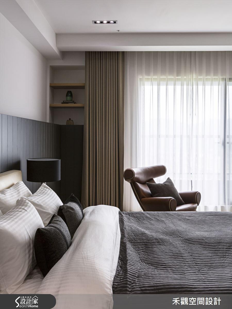 85坪新成屋(5年以下)_現代風臥室案例圖片_禾觀空間設計_禾觀_15之23