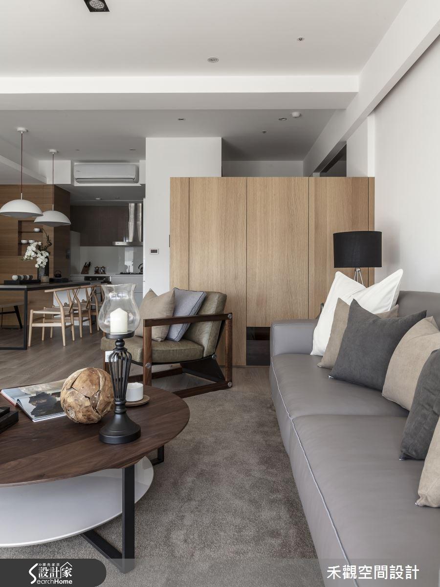 50坪新成屋(5年以下)_現代風客廳案例圖片_禾觀空間設計_禾觀_14之8