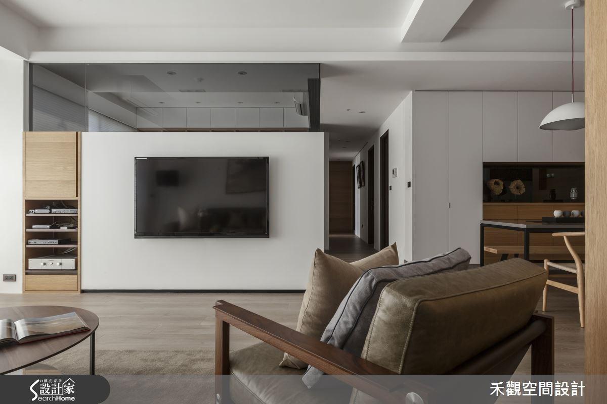 50坪新成屋(5年以下)_現代風客廳樓梯案例圖片_禾觀空間設計_禾觀_14之9