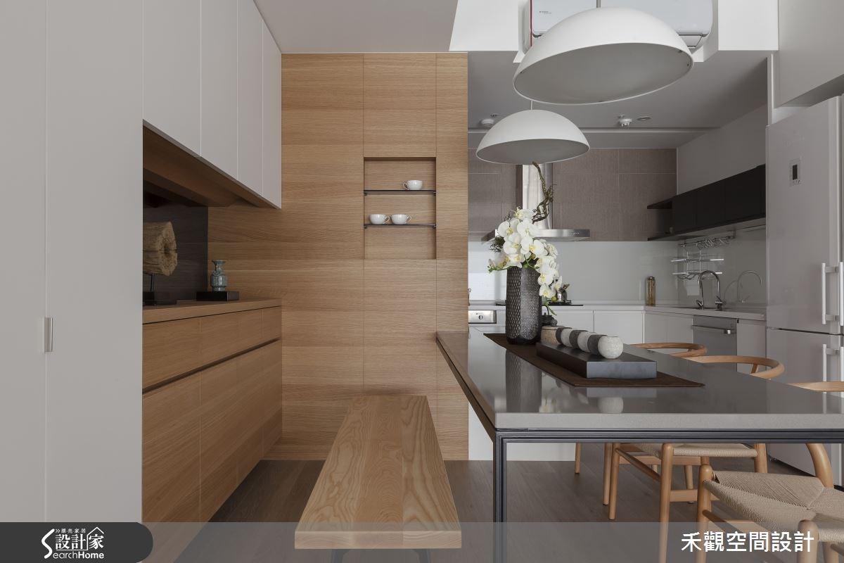 50坪新成屋(5年以下)_現代風餐廳廚房案例圖片_禾觀空間設計_禾觀_14之12