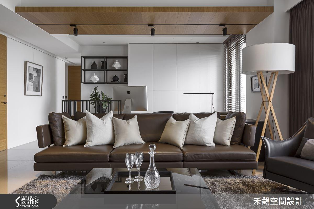 45坪新成屋(5年以下)_現代風客廳案例圖片_禾觀空間設計_禾觀_13之5