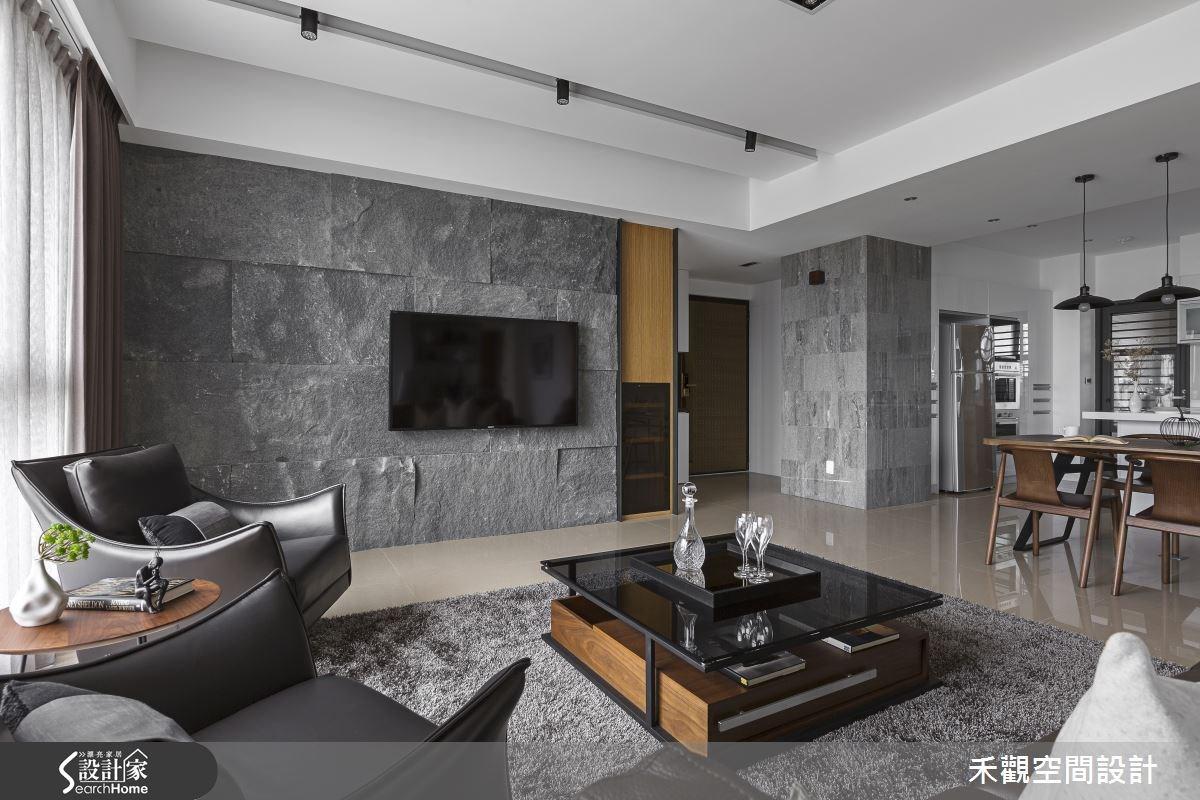45坪新成屋(5年以下)_現代風客廳案例圖片_禾觀空間設計_禾觀_13之7