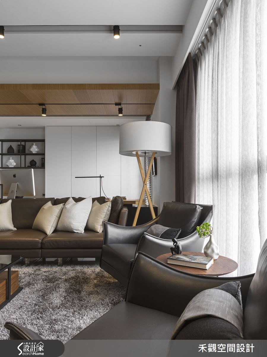 45坪新成屋(5年以下)_現代風客廳案例圖片_禾觀空間設計_禾觀_13之8