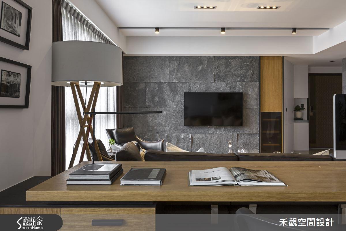 45坪新成屋(5年以下)_現代風客廳書房案例圖片_禾觀空間設計_禾觀_13之9