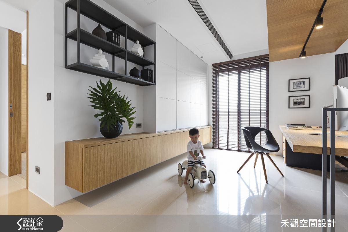 45坪新成屋(5年以下)_現代風書房案例圖片_禾觀空間設計_禾觀_13之11