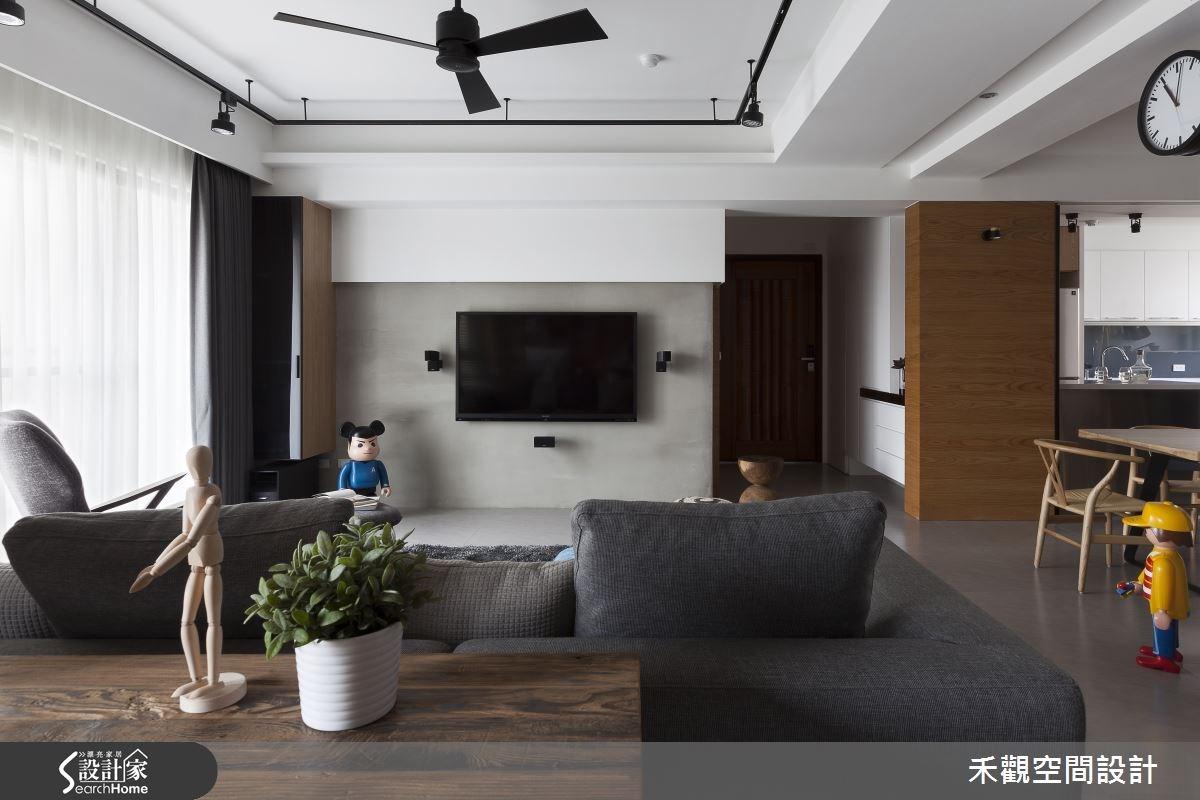 36坪新成屋(5年以下)_現代風玄關客廳案例圖片_禾觀空間設計_禾觀_12之4