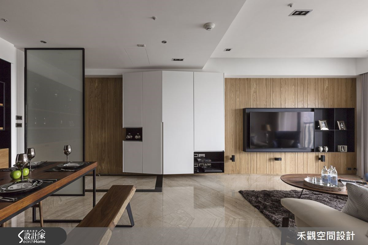 37坪新成屋(5年以下)_現代風客廳餐廳案例圖片_禾觀空間設計_禾觀_10之1