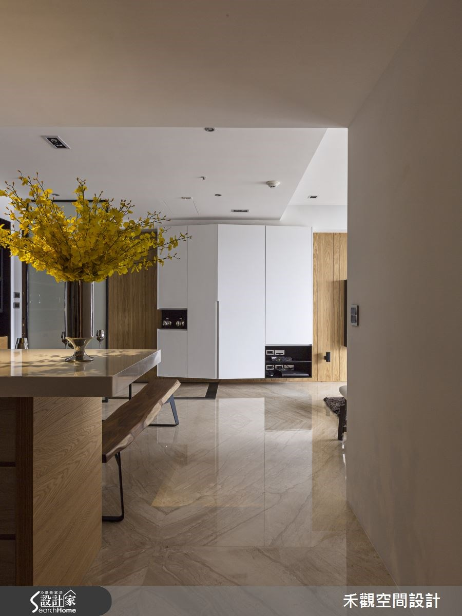 37坪新成屋(5年以下)_現代風餐廳走廊案例圖片_禾觀空間設計_禾觀_10之4