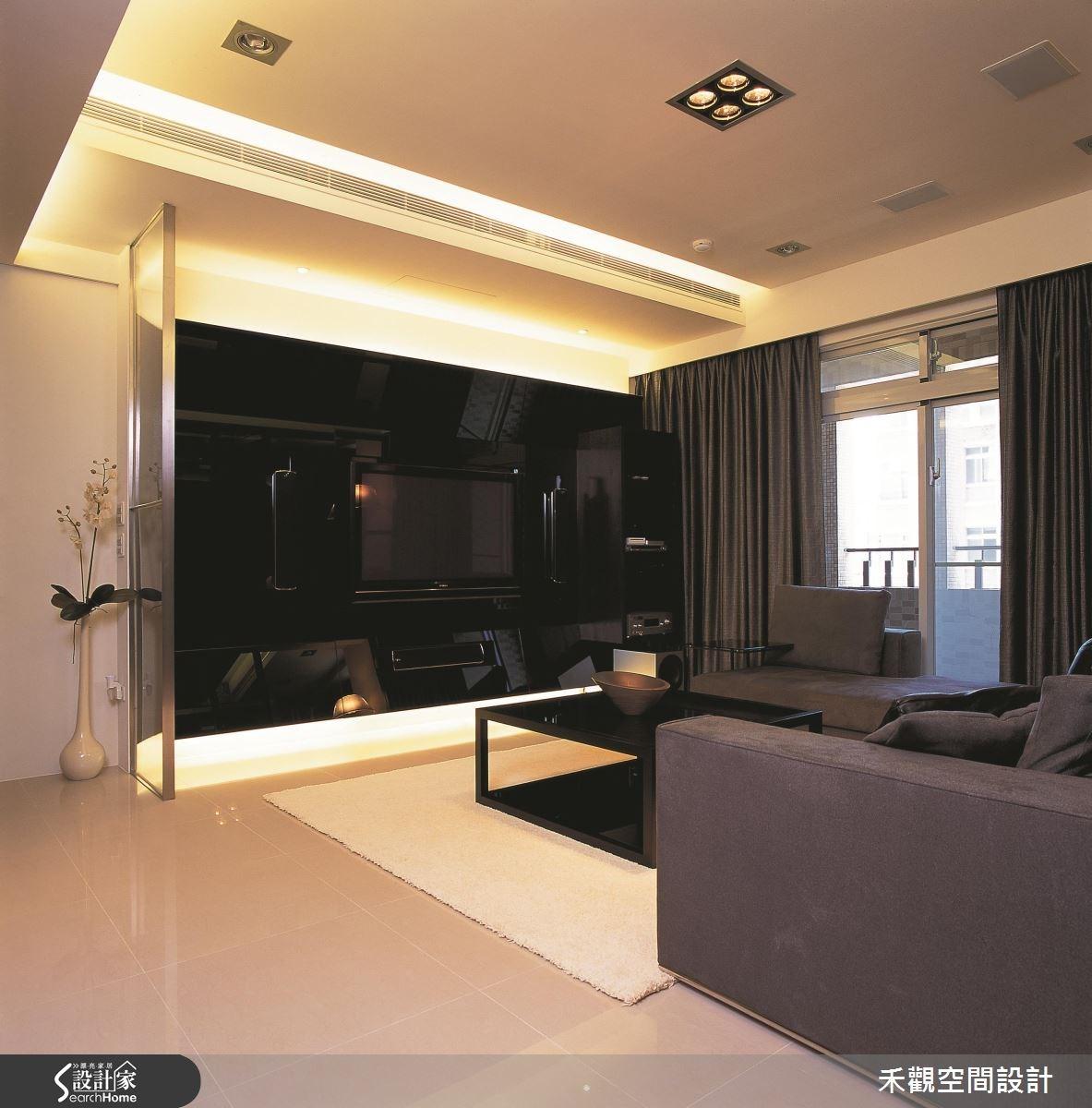37坪新成屋(5年以下)_現代風客廳案例圖片_禾觀空間設計_禾觀_04之3