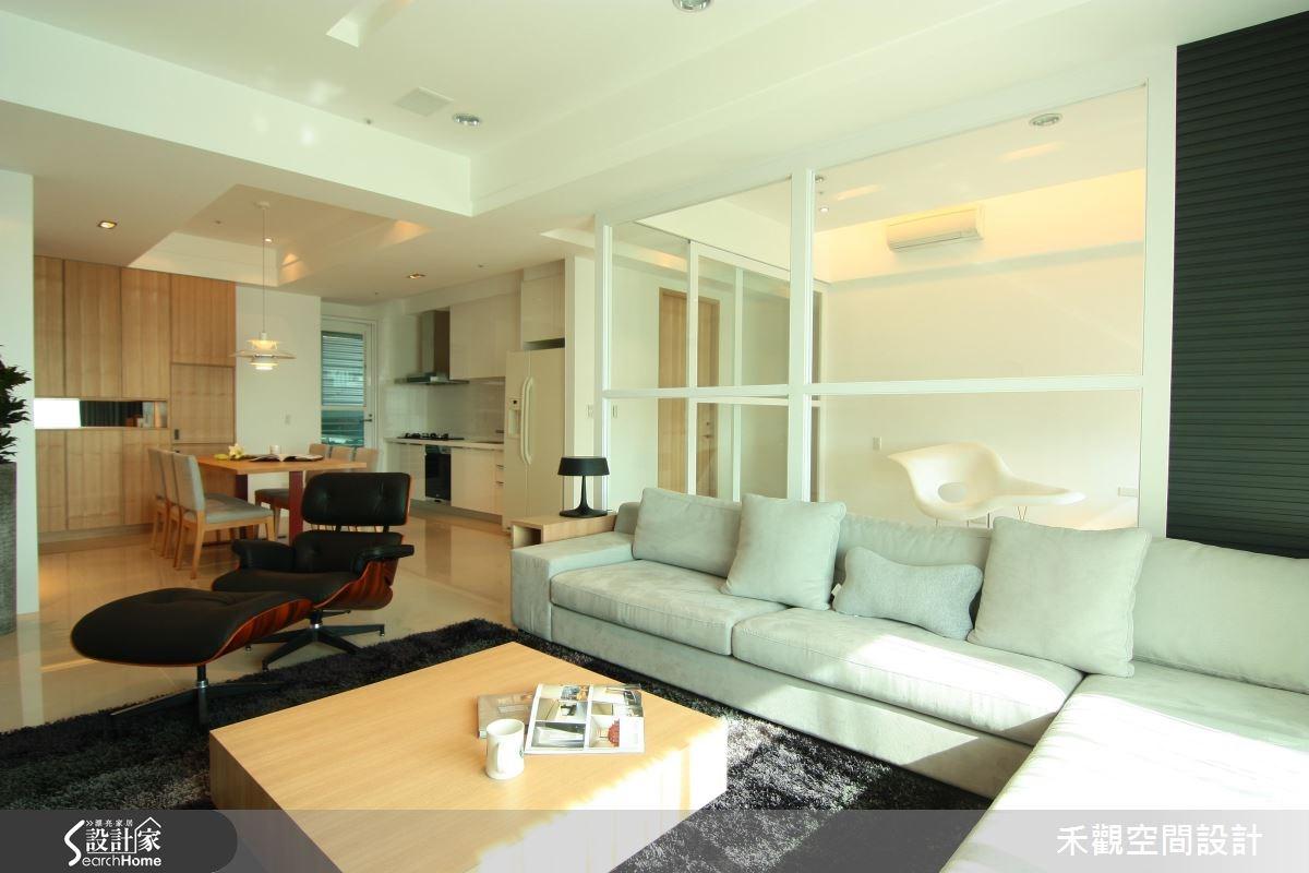 42坪新成屋(5年以下)_北歐風客廳案例圖片_禾觀空間設計_禾觀_05之4