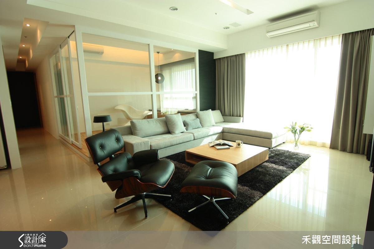 42坪新成屋(5年以下)_北歐風客廳案例圖片_禾觀空間設計_禾觀_05之5