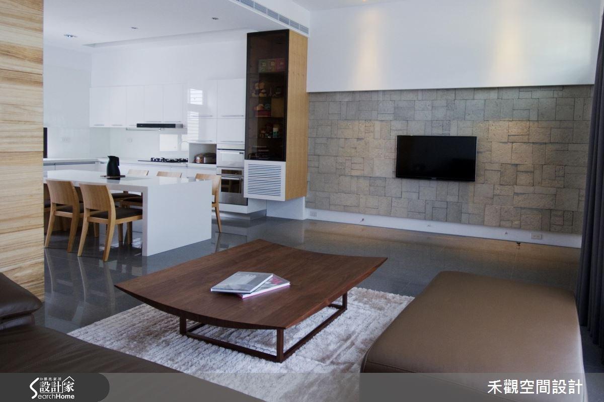 85坪新成屋(5年以下)_休閒風客廳餐廳案例圖片_禾觀空間設計_禾觀_02之3