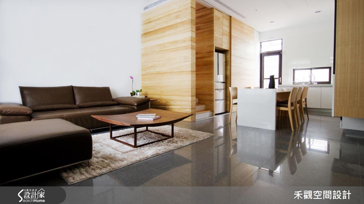 85坪新成屋(5年以下)_休閒風客廳餐廳案例圖片_禾觀空間設計_禾觀_02之7