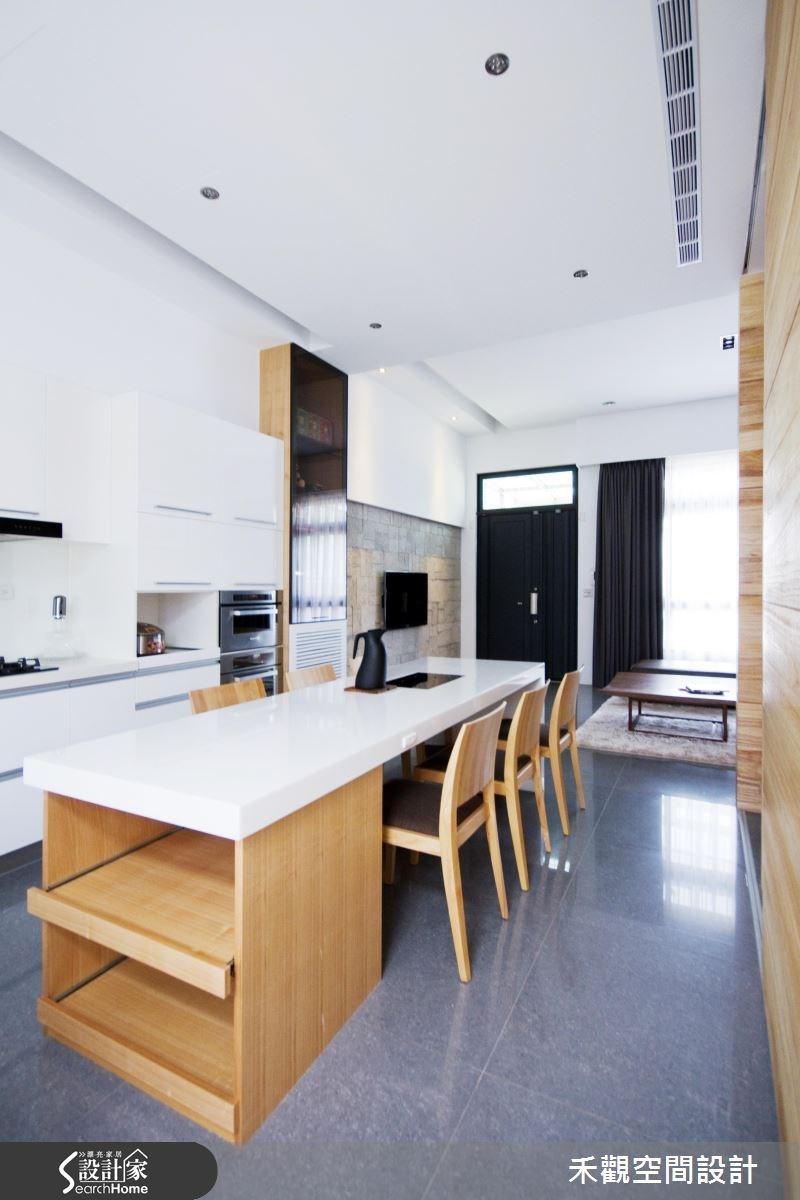 85坪新成屋(5年以下)_休閒風餐廳廚房案例圖片_禾觀空間設計_禾觀_02之9