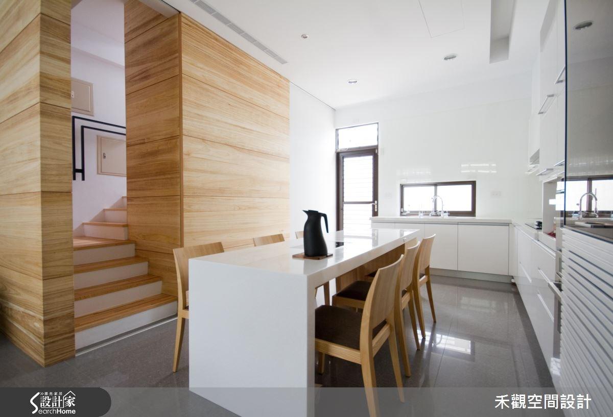 85坪新成屋(5年以下)_休閒風餐廳廚房樓梯案例圖片_禾觀空間設計_禾觀_02之15
