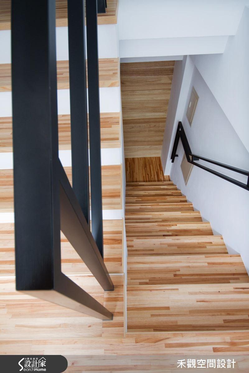 85坪新成屋(5年以下)_休閒風樓梯案例圖片_禾觀空間設計_禾觀_02之23