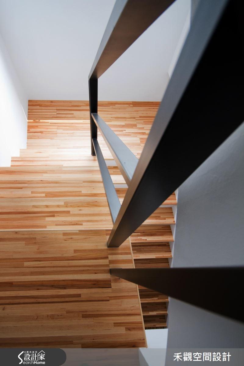 85坪新成屋(5年以下)_休閒風樓梯案例圖片_禾觀空間設計_禾觀_02之24