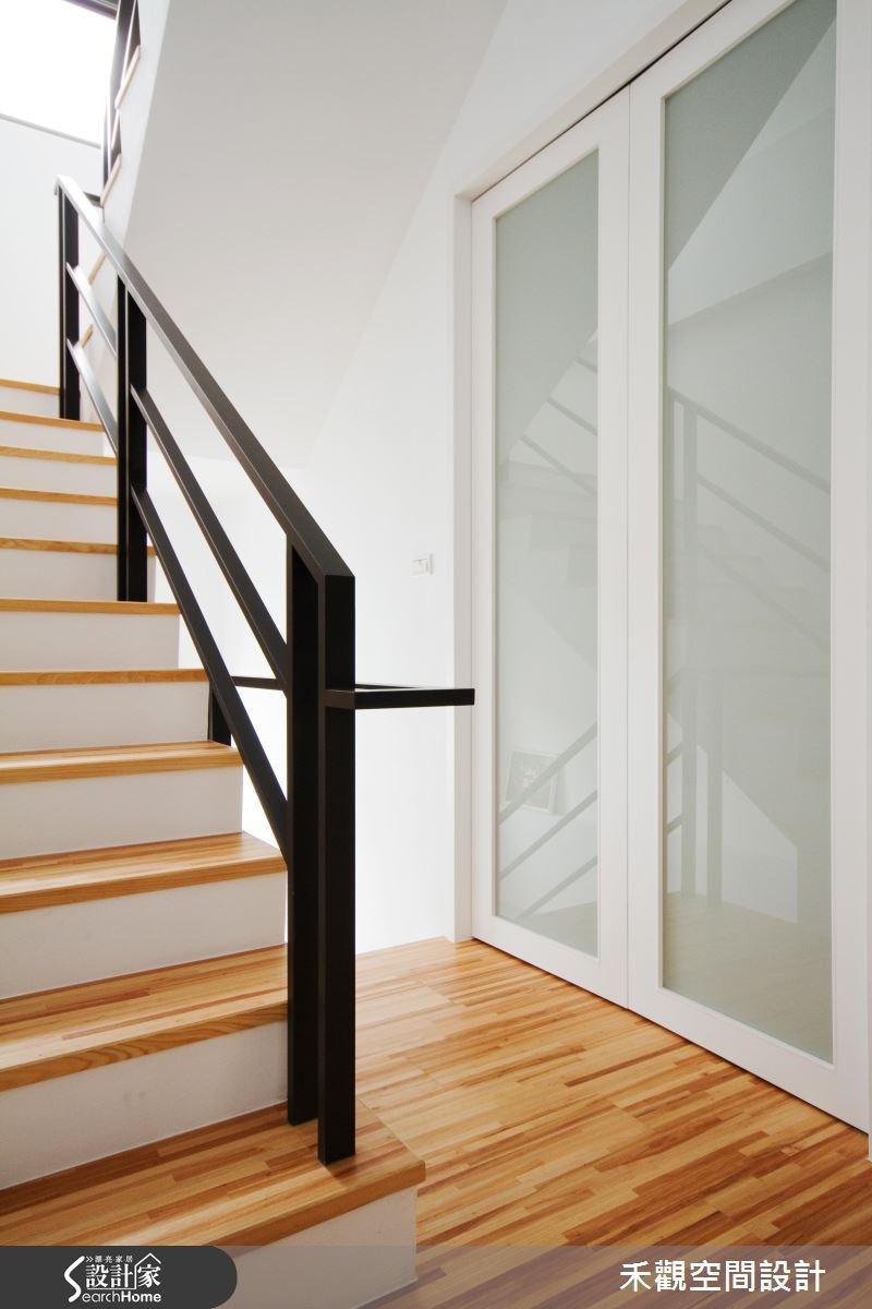 85坪新成屋(5年以下)_休閒風樓梯案例圖片_禾觀空間設計_禾觀_02之25