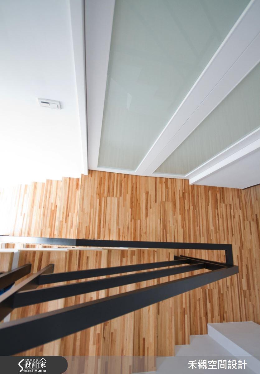 85坪新成屋(5年以下)_休閒風樓梯案例圖片_禾觀空間設計_禾觀_02之26
