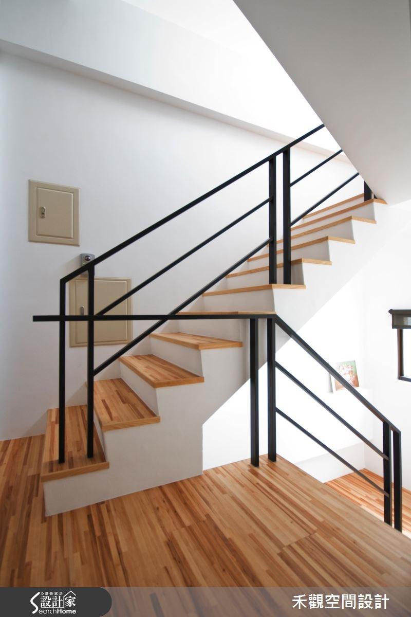 85坪新成屋(5年以下)_休閒風樓梯案例圖片_禾觀空間設計_禾觀_02之27