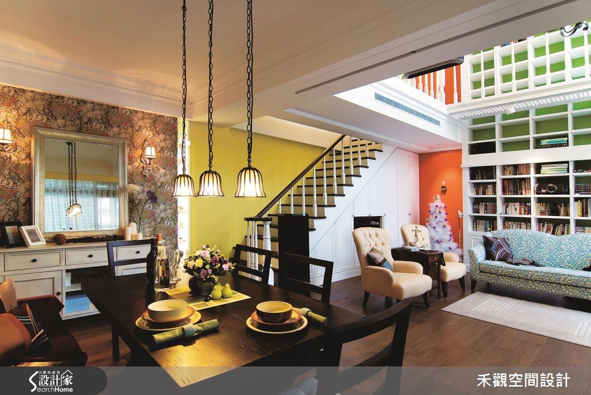 90坪新成屋(5年以下)_美式風餐廳樓梯案例圖片_禾觀空間設計_禾觀_06之4