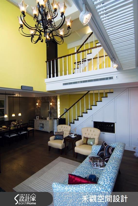 90坪新成屋(5年以下)_美式風客廳樓梯案例圖片_禾觀空間設計_禾觀_06之7