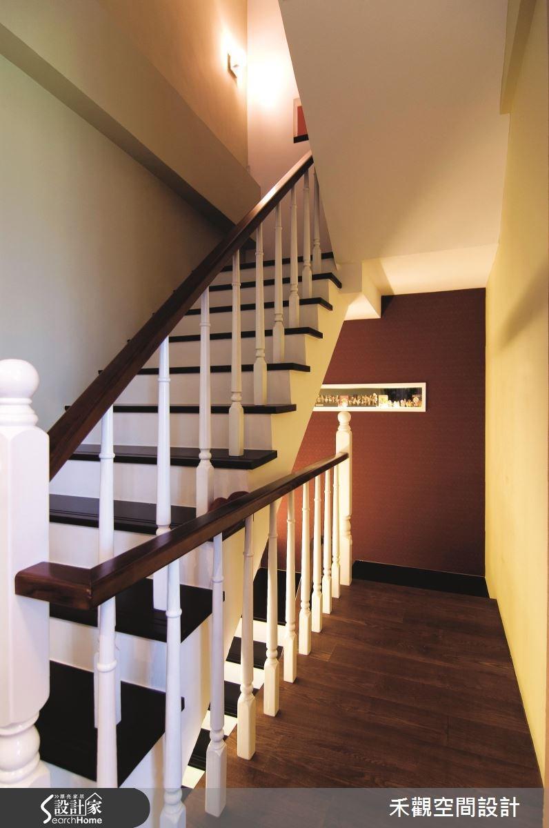 90坪新成屋(5年以下)_美式風樓梯案例圖片_禾觀空間設計_禾觀_06之8