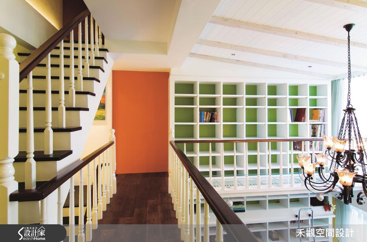 90坪新成屋(5年以下)_美式風樓梯走廊案例圖片_禾觀空間設計_禾觀_06之12