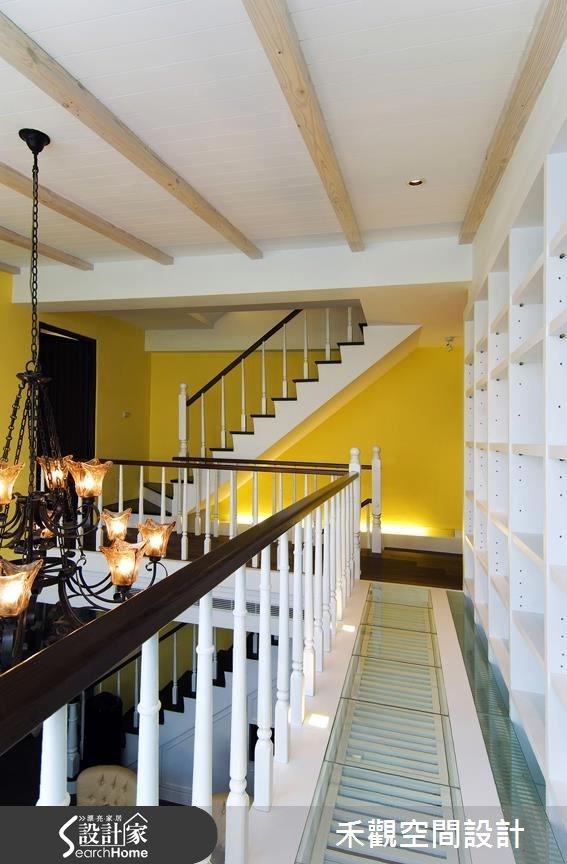 90坪新成屋(5年以下)_美式風樓梯走廊案例圖片_禾觀空間設計_禾觀_06之13