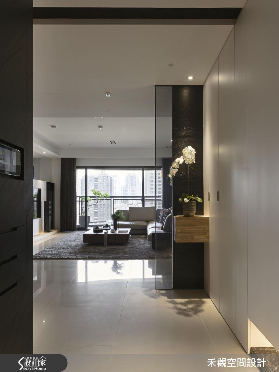 52坪新成屋(5年以下)_現代風玄關客廳案例圖片_禾觀空間設計_禾觀_11之1