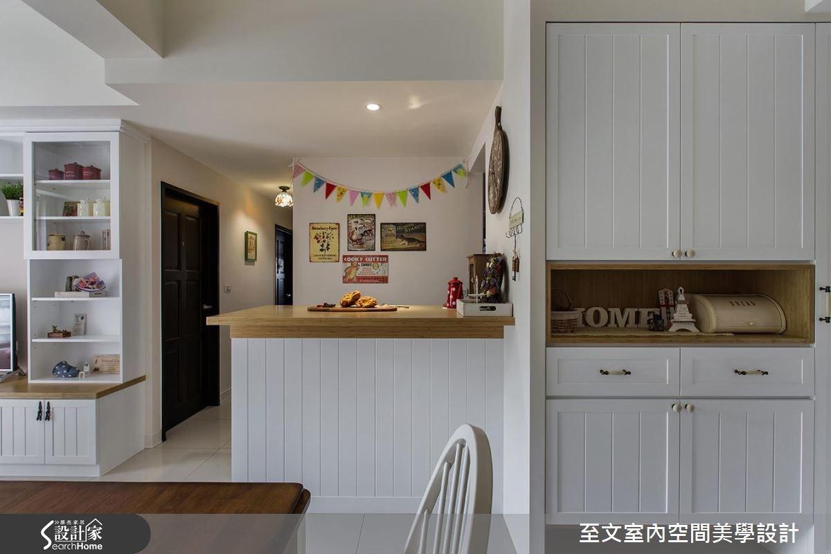 25坪新成屋(5年以下)_鄉村風餐廳吧檯案例圖片_至文室內裝修有限公司_至文_12之3