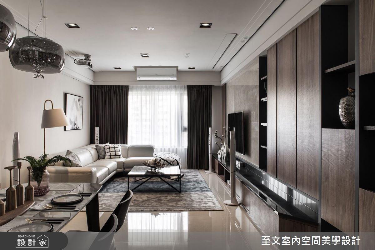 43坪新成屋(5年以下)_現代風客廳案例圖片_至文室內裝修有限公司_至文_感知。居之之1