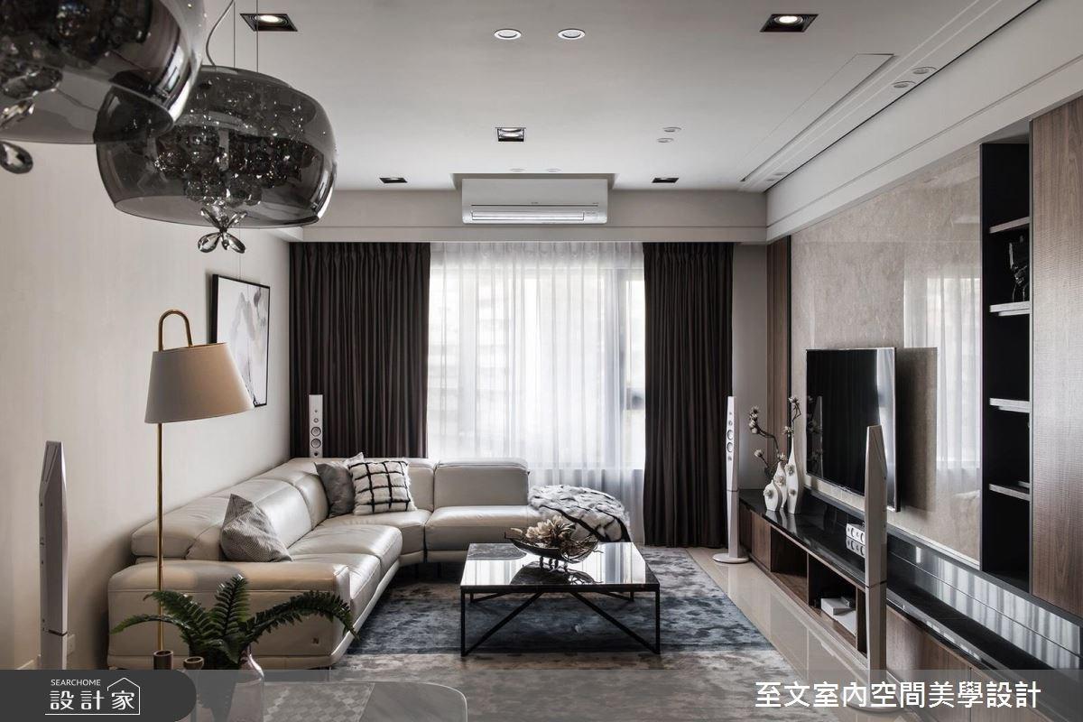 43坪新成屋(5年以下)_現代風客廳案例圖片_至文室內裝修有限公司_至文_感知。居之之2