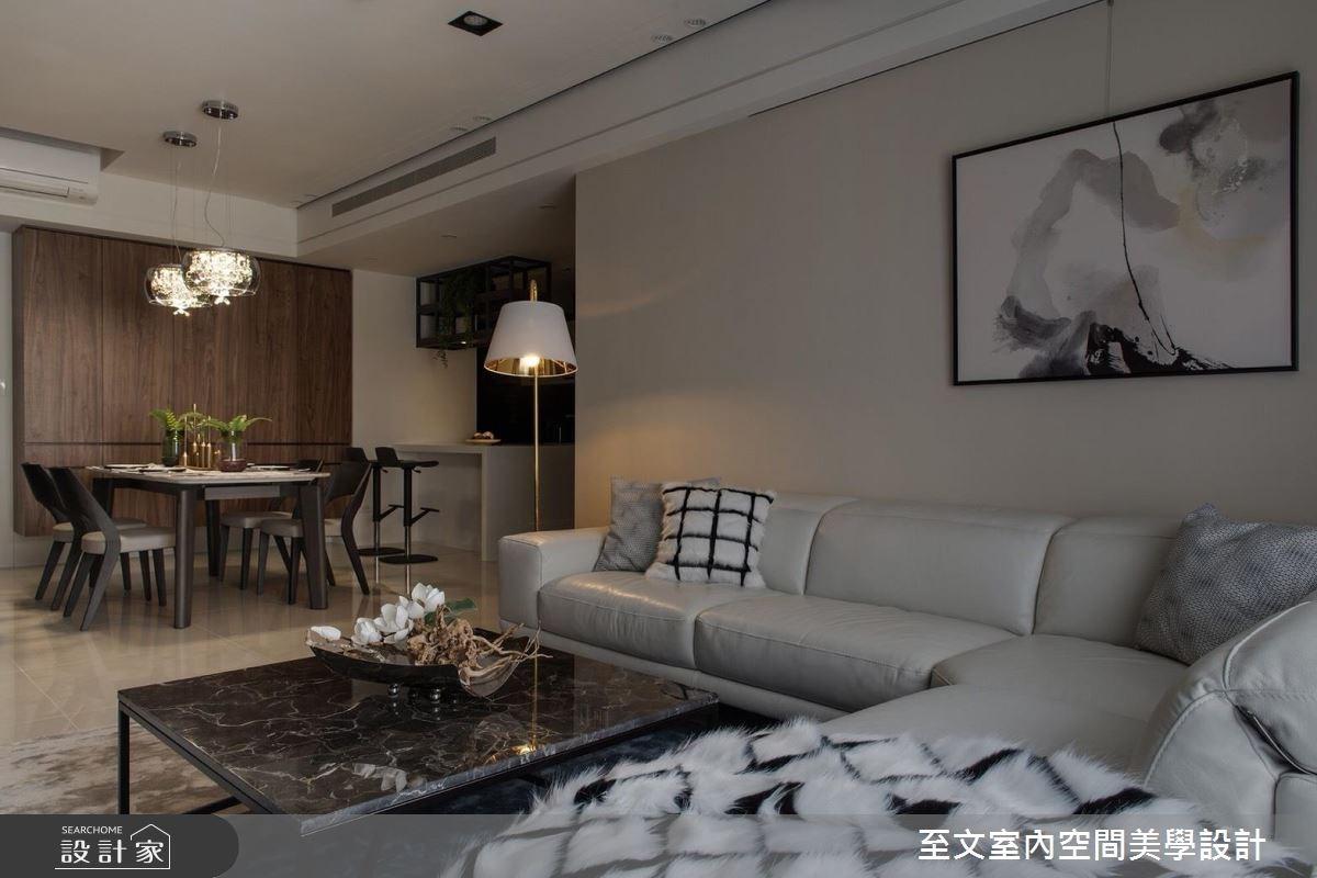 43坪新成屋(5年以下)_現代風客廳案例圖片_至文室內裝修有限公司_至文_感知。居之之3