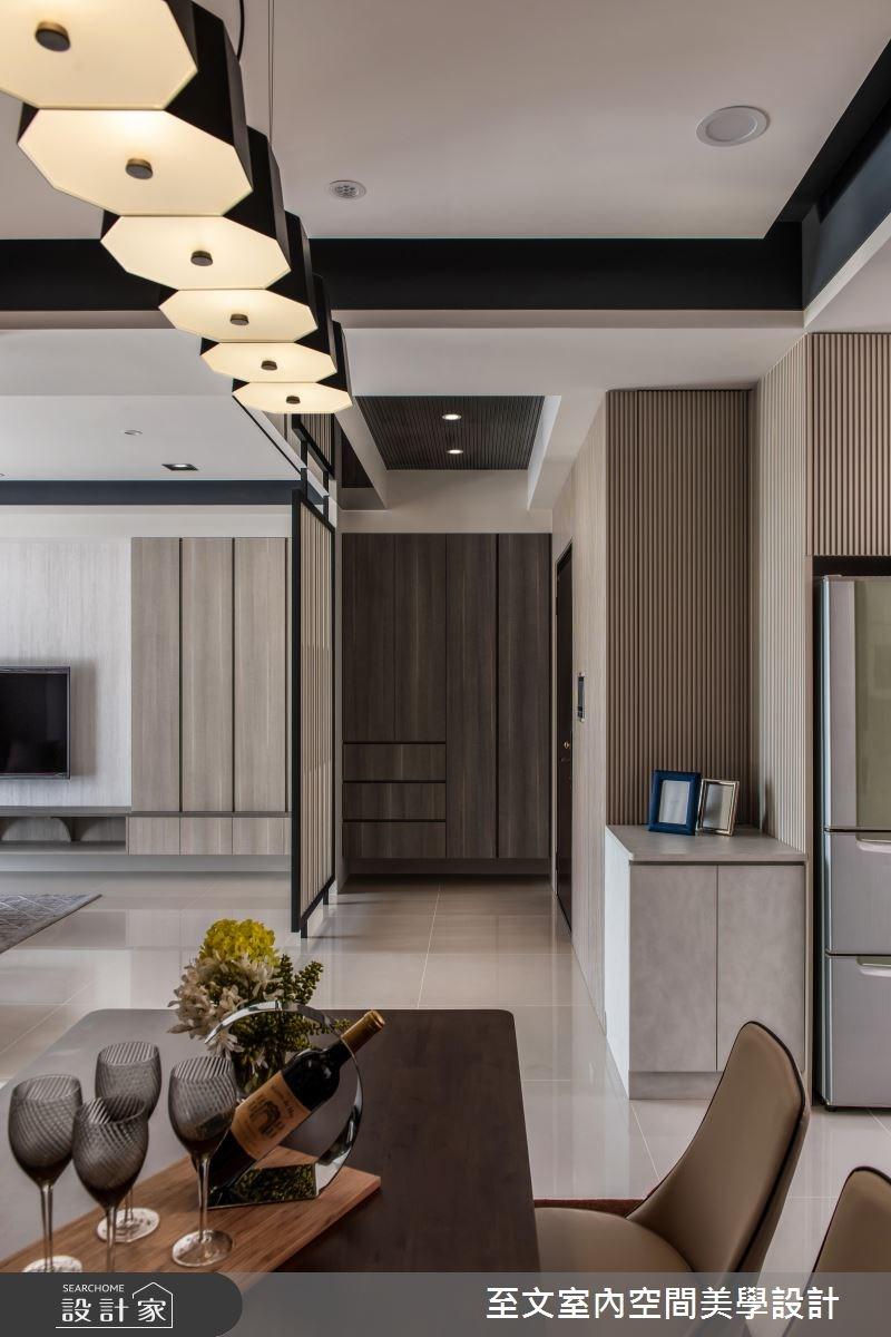 32坪新成屋(5年以下)_簡約風餐廳案例圖片_至文室內裝修有限公司_至文_原璞質美之5