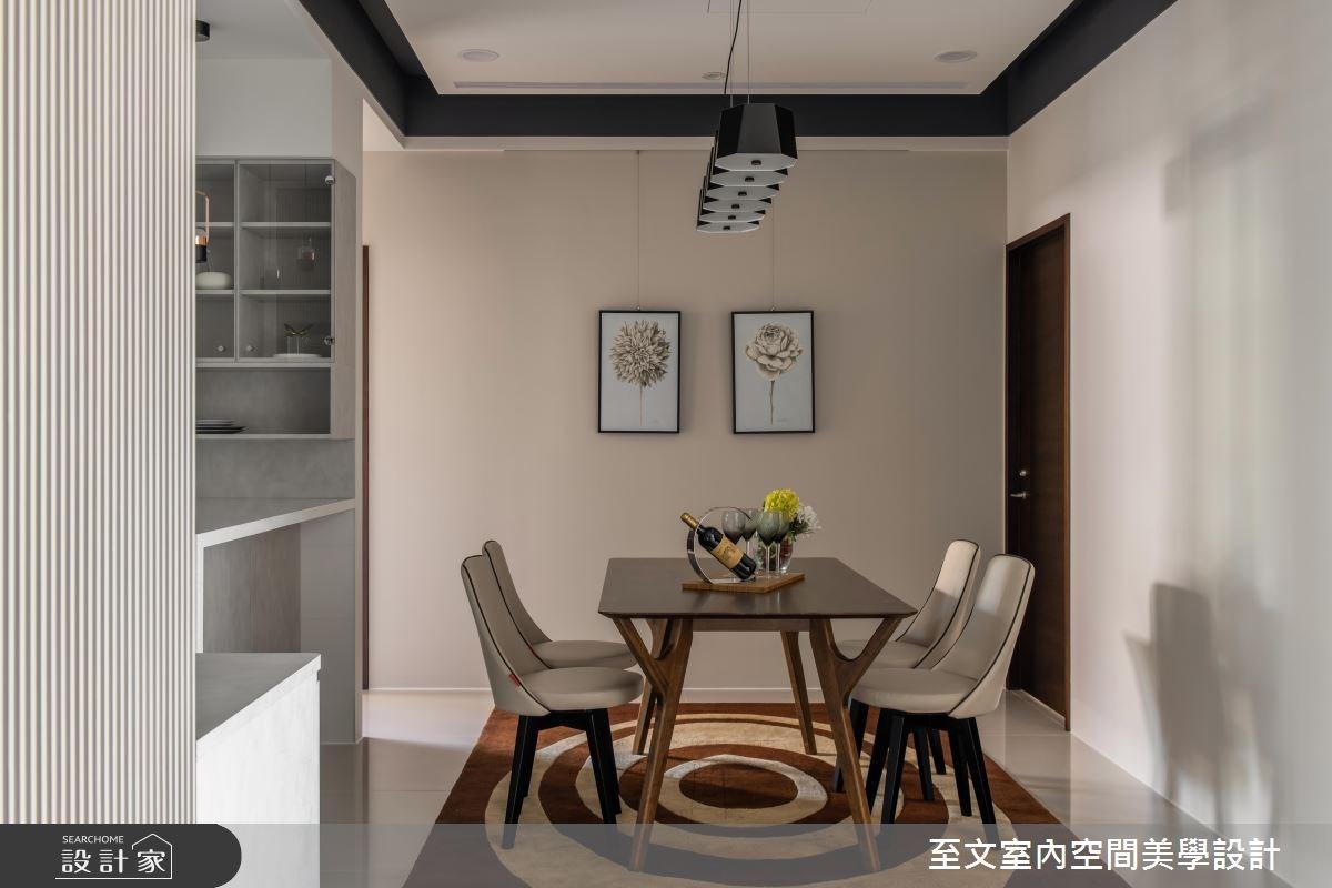 32坪新成屋(5年以下)_簡約風餐廳案例圖片_至文室內裝修有限公司_至文_原璞質美之7