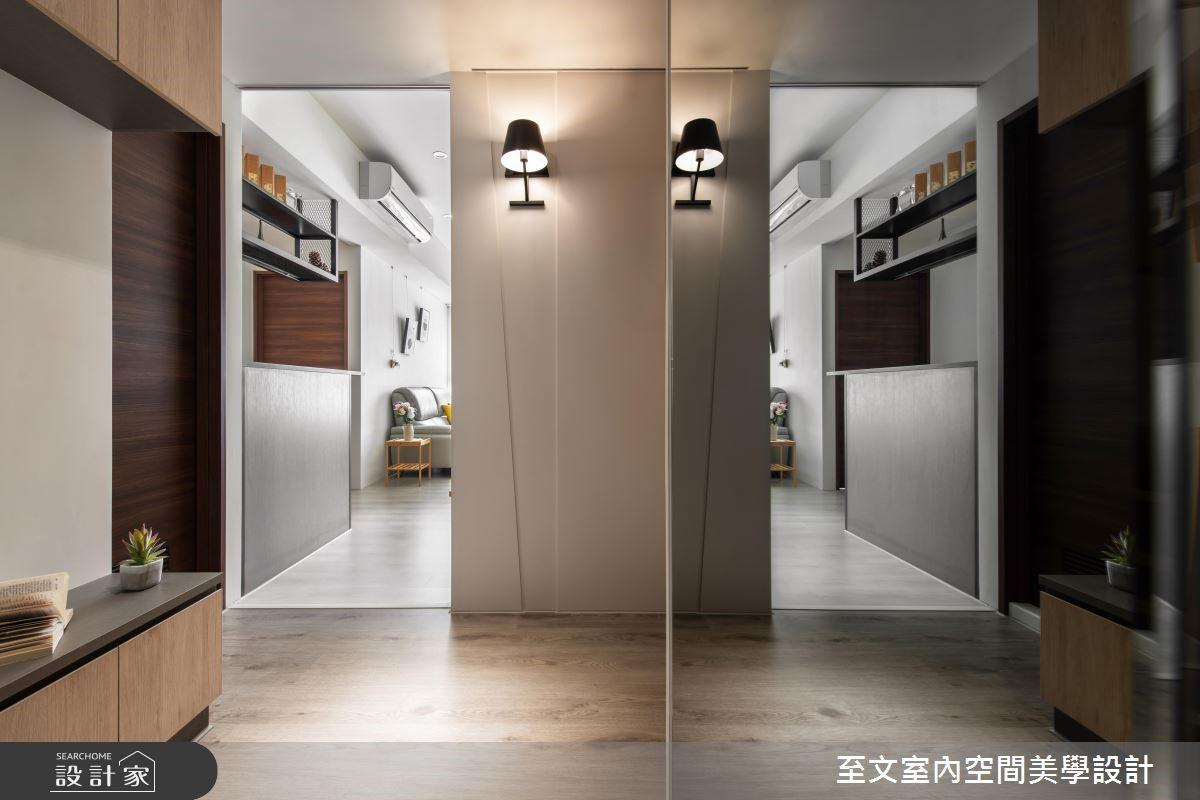21坪新成屋(5年以下)_簡約風玄關案例圖片_至文室內裝修有限公司_至文_40之2