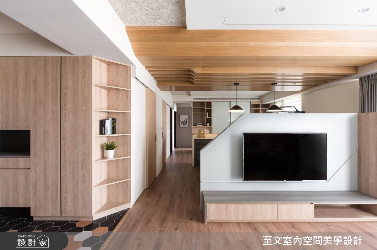 31坪新成屋(5年以下)_混搭風客廳案例圖片_至文室內裝修有限公司_至文_41之4