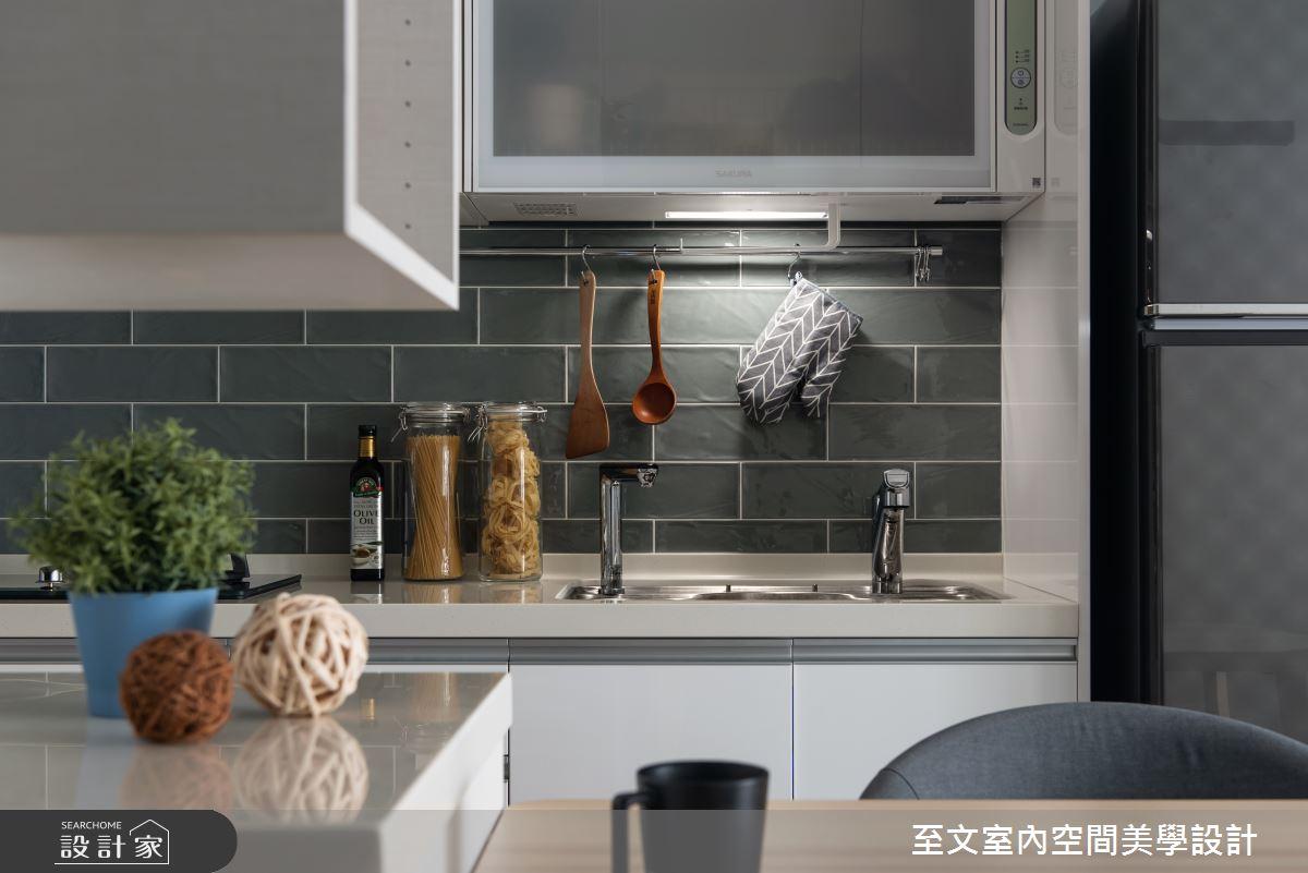 老屋(16~30年)_北歐風廚房案例圖片_至文室內裝修有限公司_至文_漫。和諧之4