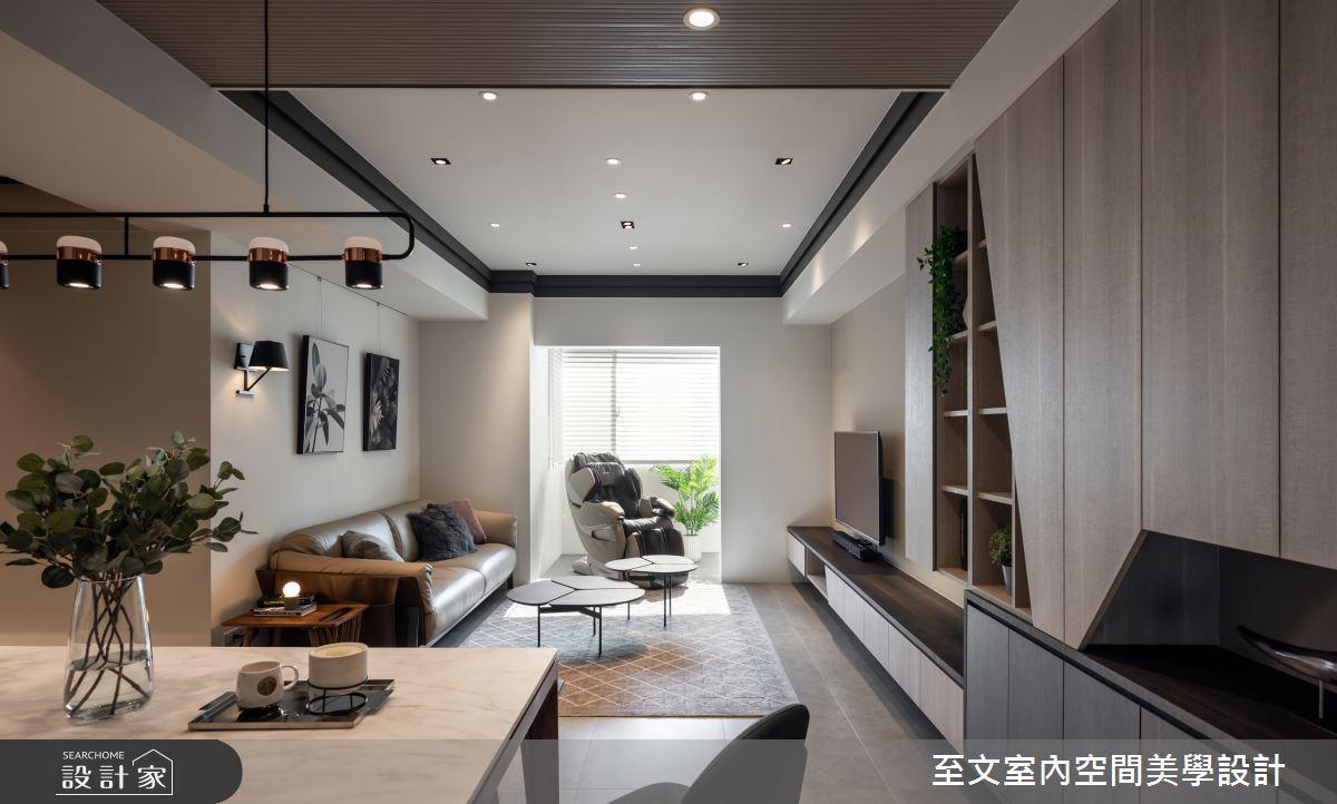 32坪中古屋(5~15年)_現代風客廳案例圖片_至文室內裝修有限公司_至文_啟程之3