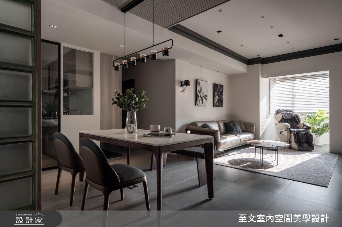 32坪中古屋(5~15年)_現代風餐廳案例圖片_至文室內裝修有限公司_至文_啟程之4
