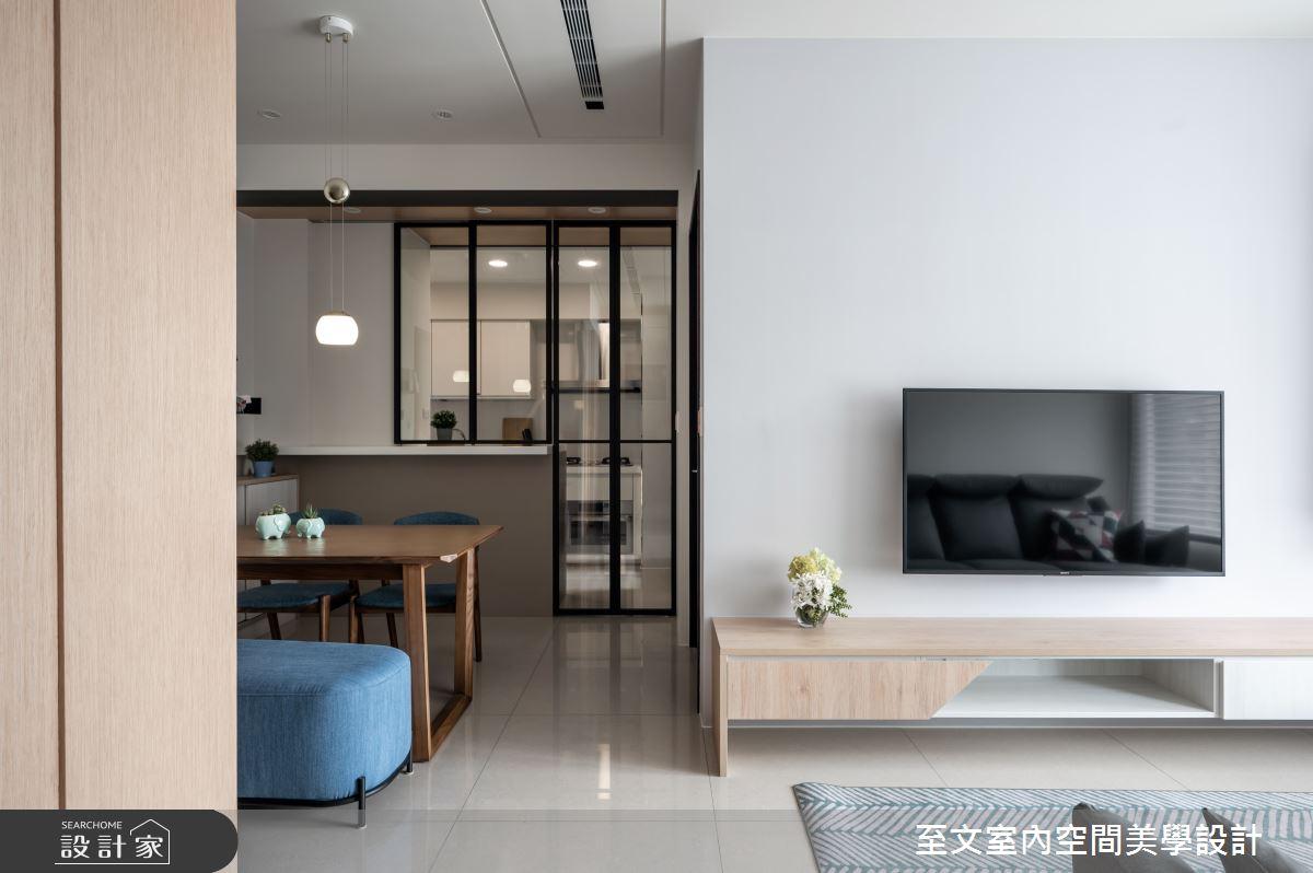 16坪新成屋(5年以下)_北歐風客廳案例圖片_至文室內裝修有限公司_至文_留白之3
