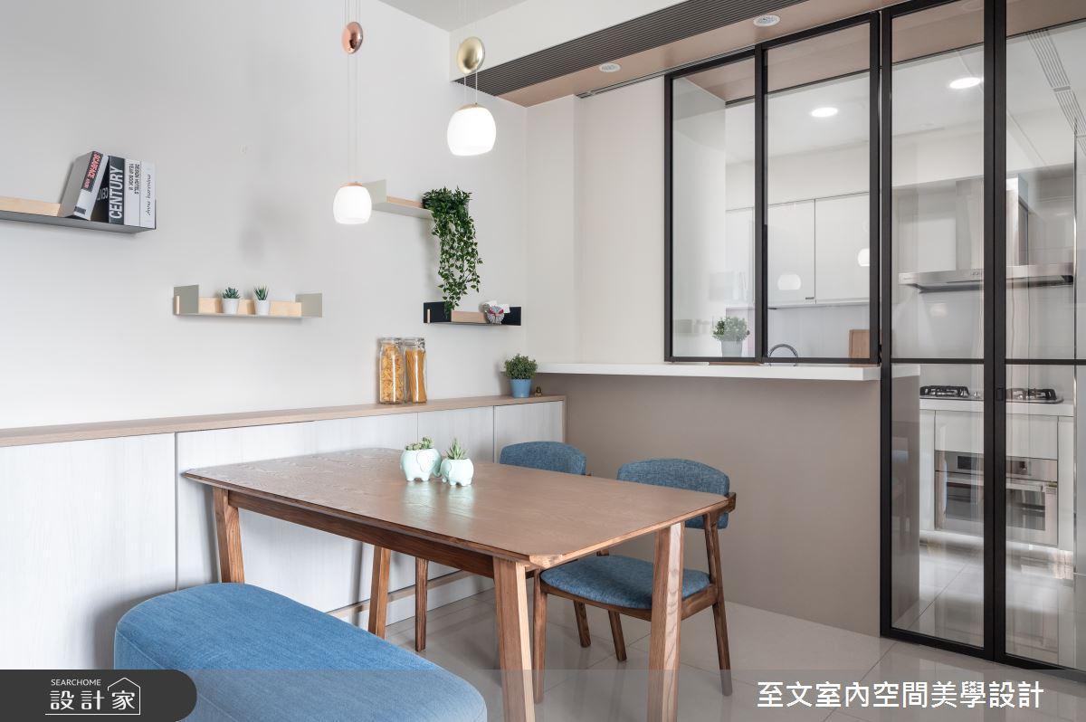 16坪新成屋(5年以下)_北歐風餐廳案例圖片_至文室內裝修有限公司_至文_留白之6