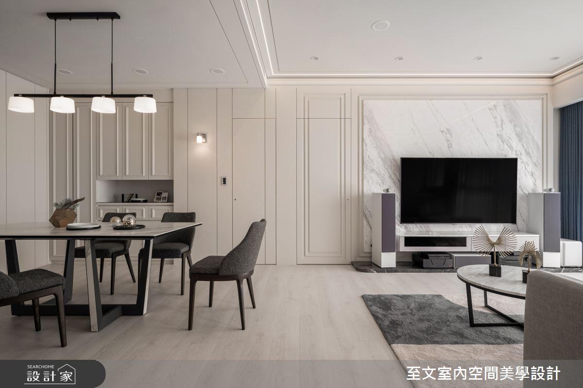 35坪新成屋(5年以下)_美式風餐廳案例圖片_至文室內裝修有限公司_至文_恆溫之3