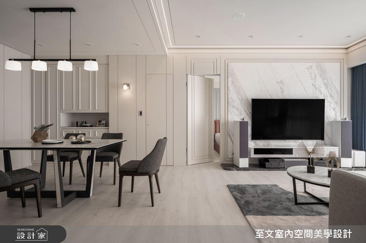 35坪新成屋(5年以下)_美式風客廳餐廳案例圖片_至文室內裝修有限公司_至文_恆溫之4